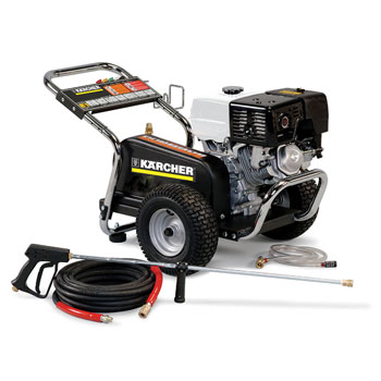 Karcher's commercial grade hot and cold water high pressure washers